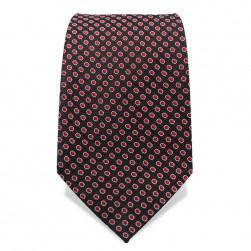 Krawatte 7,5 cm Feines Muster, Punkte, Schwarz / Rot / Weiß