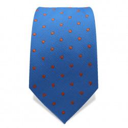 Krawatte 7,5 cm Punkte, Hellblau / Orange