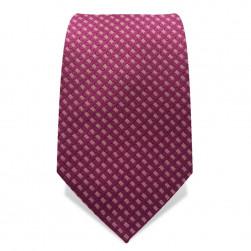 Krawatte 7,5 cm Gewebte Romben, Altrosa / Rosa