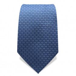 Krawatte 7,5 cm Uni Feines Webmuster II, Stahlblau