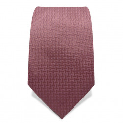 Krawatte 7,5 cm Uni Feines Webmuster, Altrosa