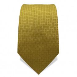 Krawatte 7,5 cm Uni Feines Webmuster, Gold-Senfgelb