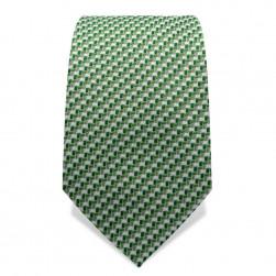Krawatte 7,5 cm Feines Webmuster, Dunkelgrün / Hellgrün