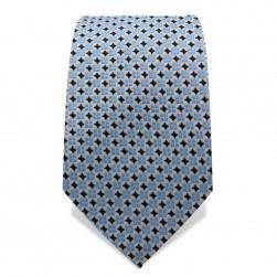Krawatte 7,5 cm Feines Webmuster, Hellblau / Schwarz / Weiß