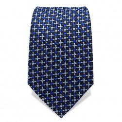 Krawatte 7,5 cm Feines Webmuster, Dunkelblau / Blau / Hellblau