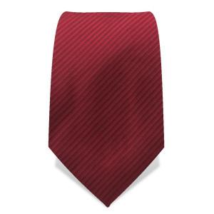 Krawatte 8,5 cm Uni, Feine gewebte Streifen, Rubin-Rot