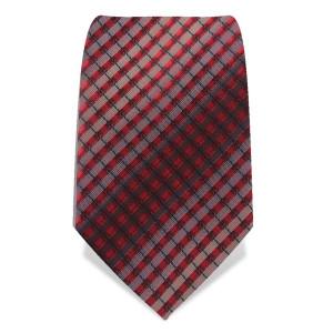 """Krawatte 8,5 cm """"Artist"""" Streifen / Karo, Rot / Schwarz / Weiß"""