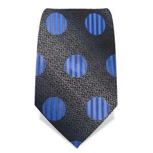 """Krawatte 8,5 cm """"Fun-Dots"""", Schwarz / Grau / Blau"""
