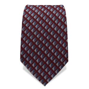 Krawatte 7,5 cm Feines Webmuster Klassisch, Braun / Hellblau / Weiß