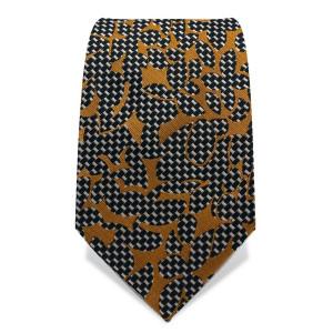 Krawatte 7,5 cm Artist Muster, Schwarz / Weiß / Gold