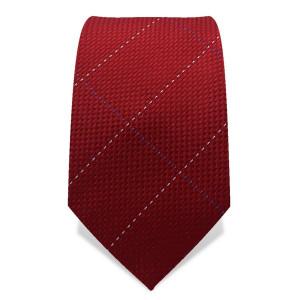 Krawatte 7,5 cm Feine Webstruktur, dünne Streifen, Rot / Blau / Weiß