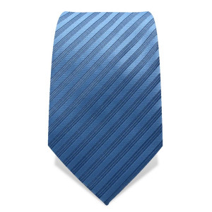 Krawatte 7,5 cm Uni Gewebte Streifen (schmal), Hellblau