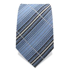 Krawatte 7,5 cm Artist Streifen II, Hellblau / Weiß / Braun