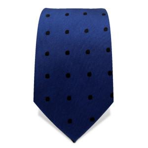 Krawatte 7,5 cm Punkte, Mittelblau / Weiß